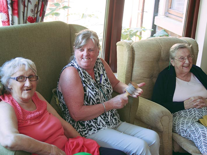 happy residents at bay tree court care home