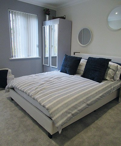 bungalow bedroom at Bay Tree Court Care Centre Independent Living