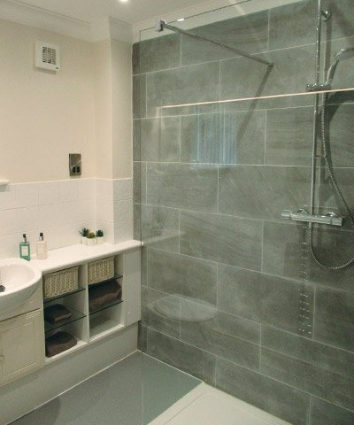 bungalow bathroom at Bay Tree Court Care Centre Independent Living