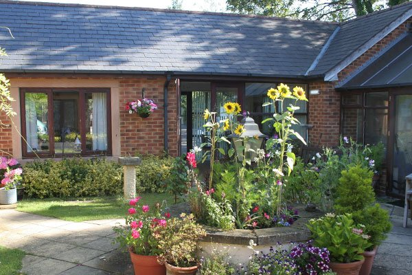 bungalow courtyard at Bay Tree Court Care Centre Independent Living