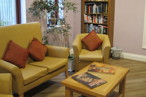library area at Bay Tree Court Care Home