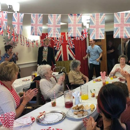 care home street party dinner