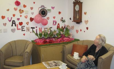 Valentines day 2021 at Bay Tree Court Care Home