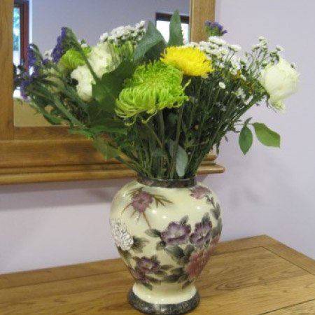 flowers at Bay Tree Court Care Home